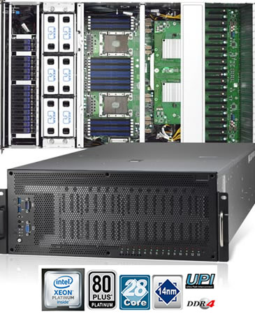 TYAN FA77-B7119 (4U2S 10-GPU server for machine learning)