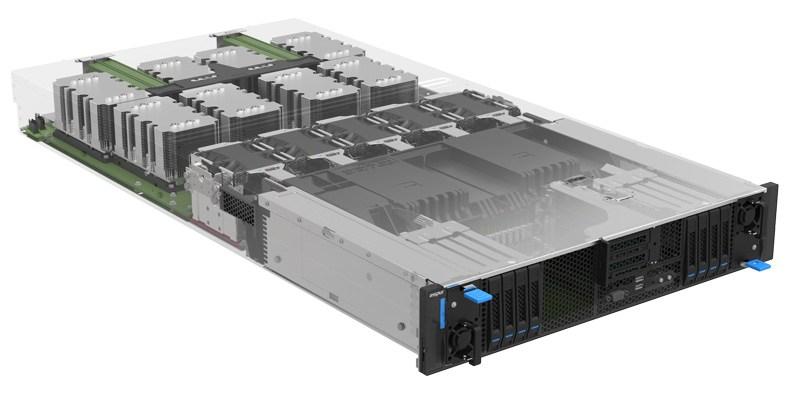Inspur Xeon D Storage Server NF5288M5-S 側面外観