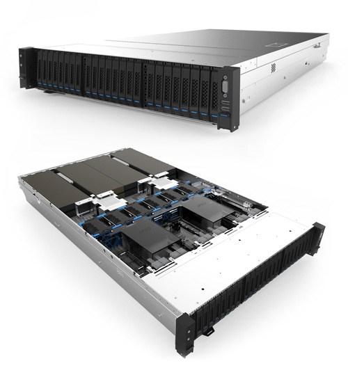Inspur Xeon D Storage Server NF8260M5 側面 内容